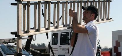 Gebäudereiniger der Firma Gebäudereinigung Stallmann